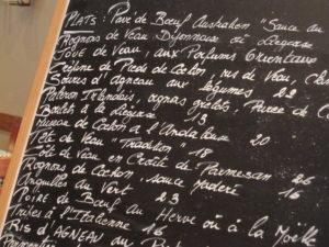 La Cuisine de Yannick - La carte